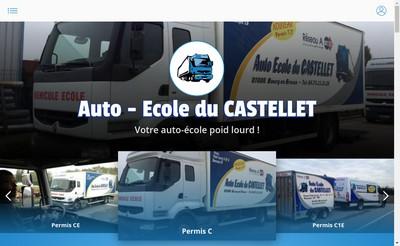 Site internet de Auto-Ecole du Castellet