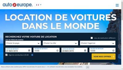 Site internet de Auto Europe