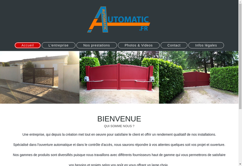 Capture d'écran du site de Automatic