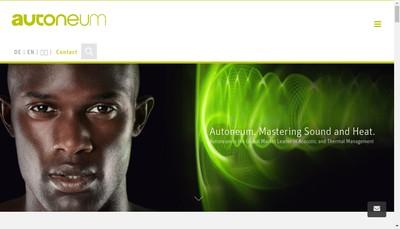 Site internet de Autoneum France