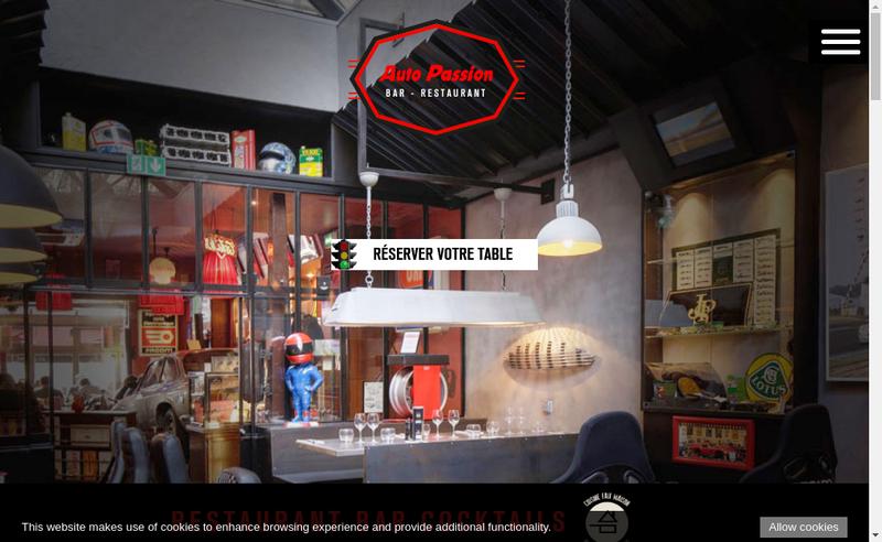 Capture d'écran du site de Auto Passion Cafe