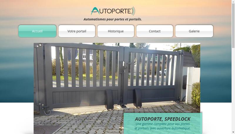 Capture d'écran du site de Chorin Automatisme