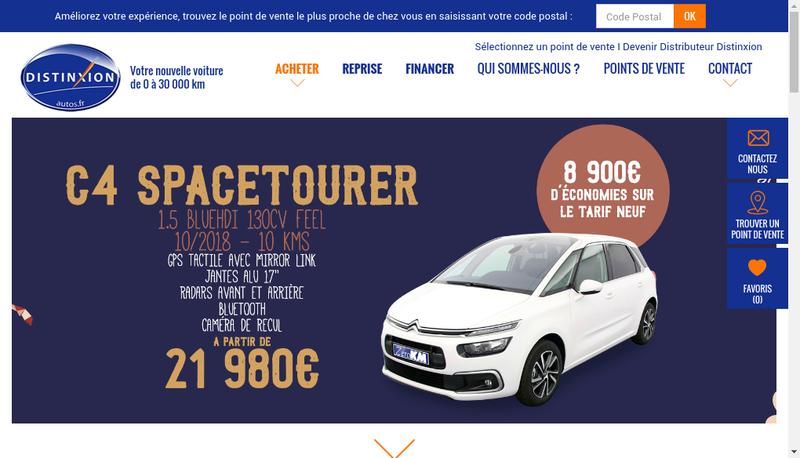 Capture d'écran du site de Auto Picardie