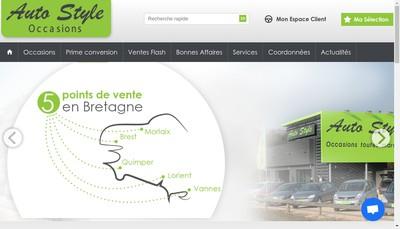 Site internet de Auto Style