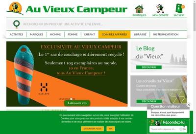Site internet de Au Vieux Campeur Lyon