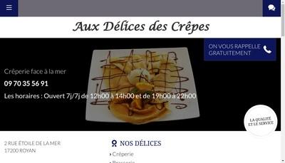Site internet de Aux Delices des Crepes