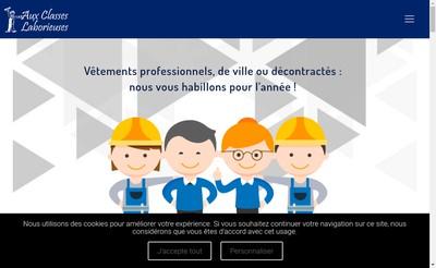 Site internet de Aux Classes Laborieuses