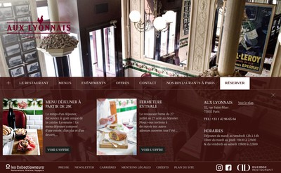 Site internet de Aux Lyonnais