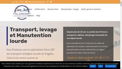Site internet de Aux Porteurs