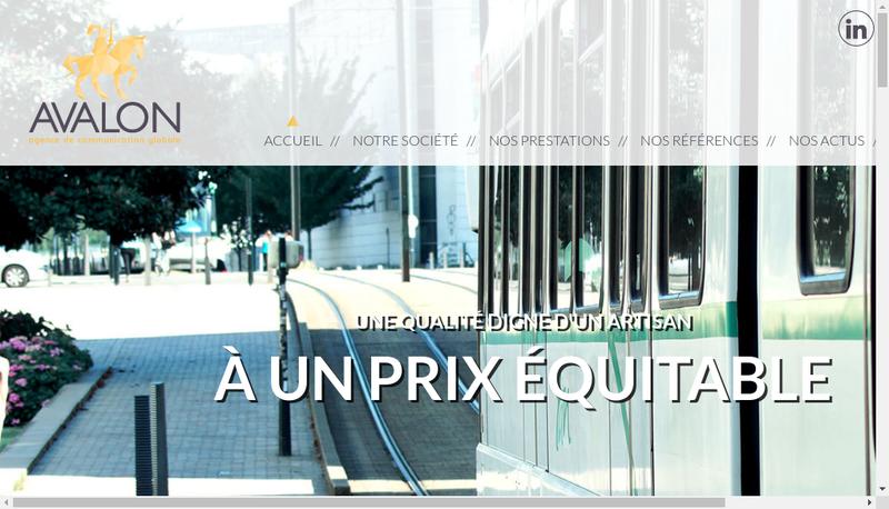 Capture d'écran du site de Avalon Communication