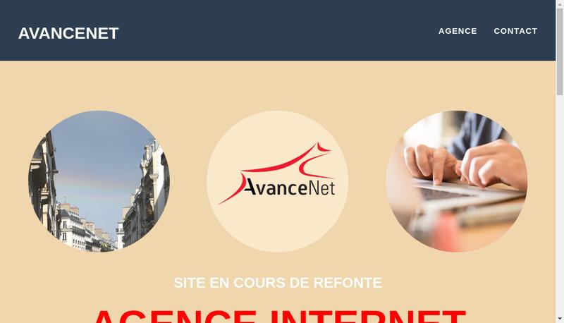 Capture d'écran du site de Avancenet