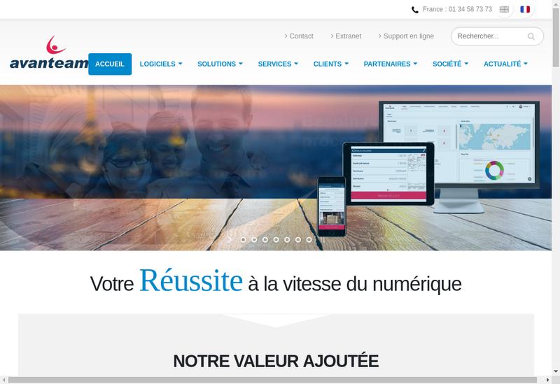 Capture d'écran du site de Gedys Vrc Technologies