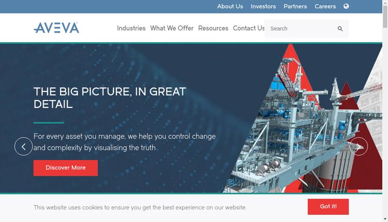Capture d'écran du site de Aveva SA