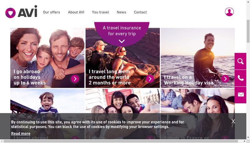Capture d'écran du site de Europ Assistance