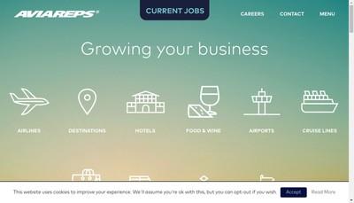 Site internet de Aviareps