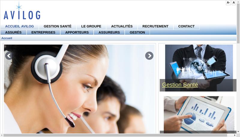 Capture d'écran du site de Avilog