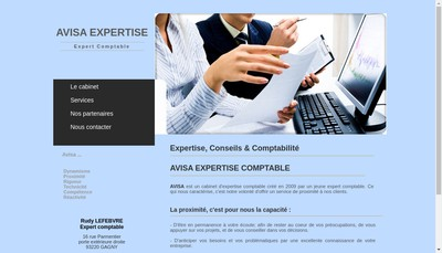 Site internet de Avisa Expertise