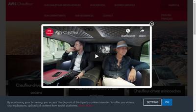 Site internet de Avis Chauffeur