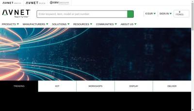 Site internet de Ebv Elektronik