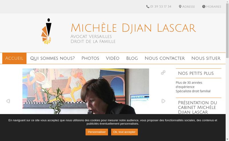 Capture d'écran du site de Michele Lascar