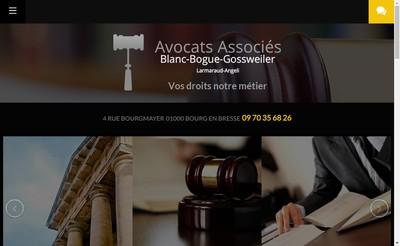 Site internet de Societe d'Avocats Blanc-Larmaraud-Bogue-Gossweiler