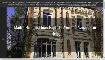 Site internet de Jean Baptiste Henniaux