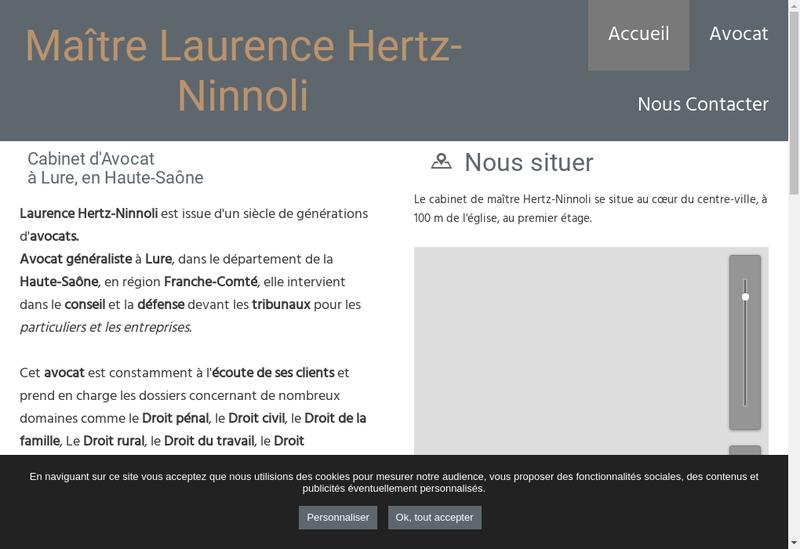 Capture d'écran du site de Laurence Hertz Ninnoli