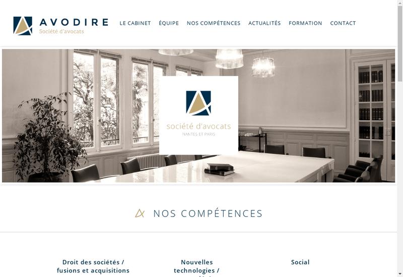Capture d'écran du site de Avodire - Societe d'Avocats