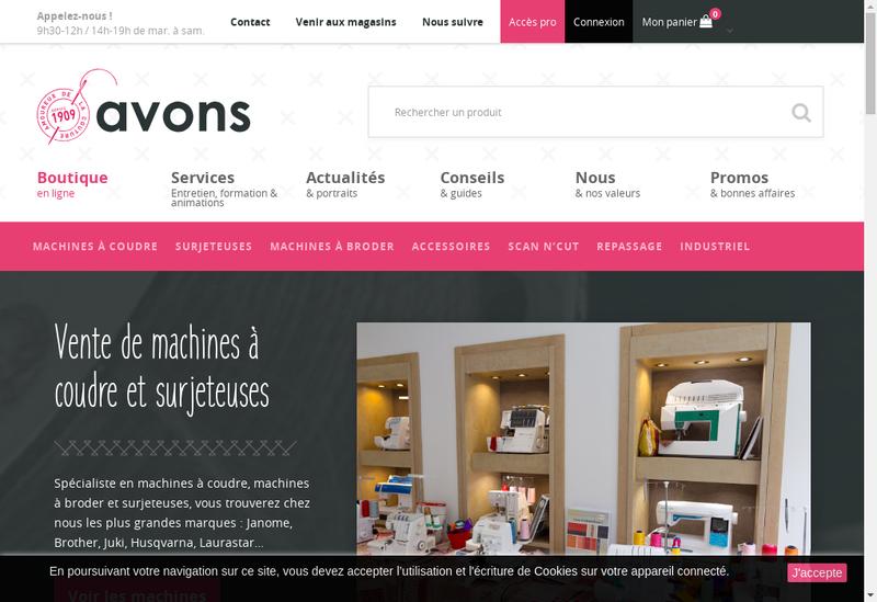Capture d'écran du site de Avons