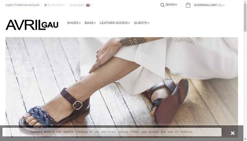 Capture d'écran du site de Avril Gau