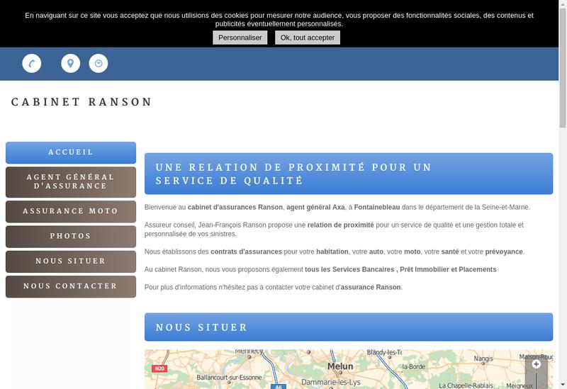 Capture d'écran du site de Jean Ranson