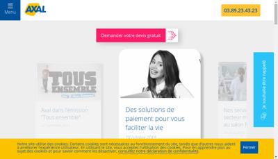 Capture d'écran du site de AXAL