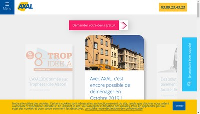 Site internet de Axal