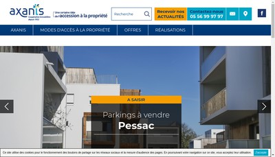 Site internet de Axanis