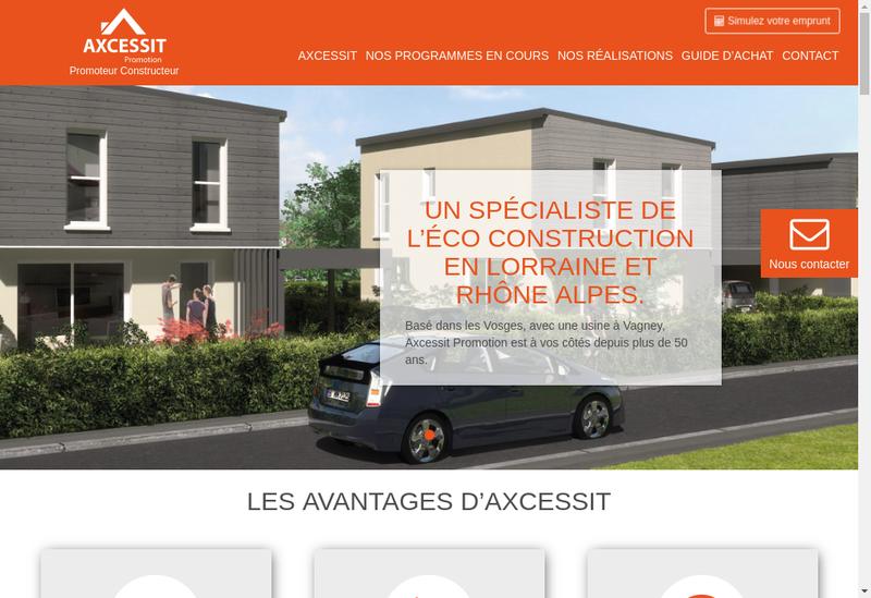 Capture d'écran du site de Axcessit Promotion
