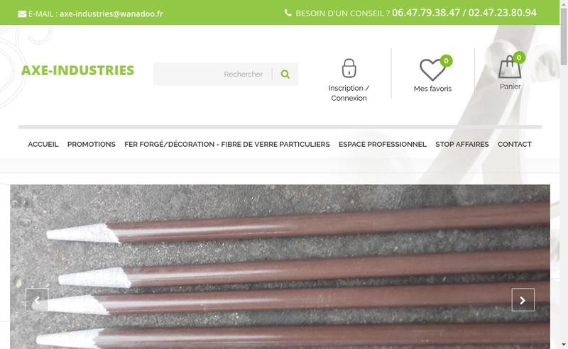 Capture d'écran du site de Axe Industries