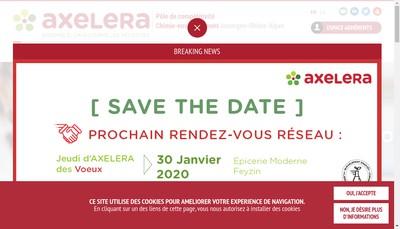 Site internet de Axelera