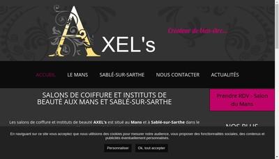 Site internet de Axel