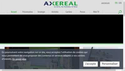 Site internet de Societe Cooperative Agricole Axereal