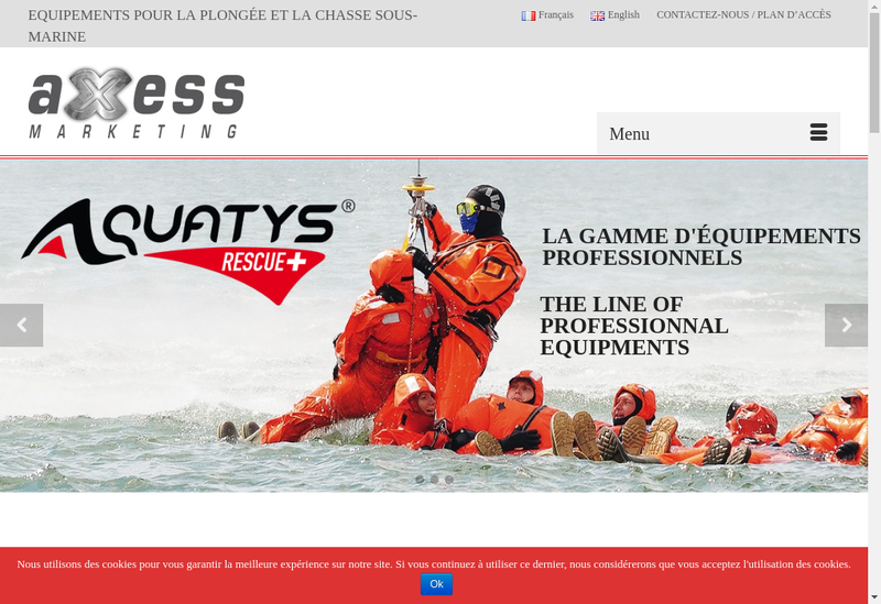 Capture d'écran du site de Axess Marketing SAS