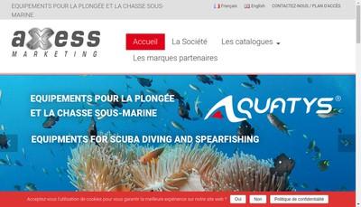 Site internet de Axess Marketing SAS
