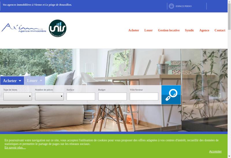 Capture d'écran du site de Ax Imm