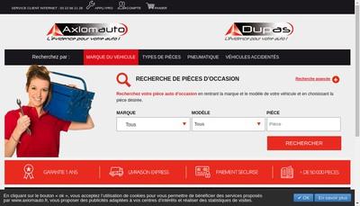 Site internet de Axiomauto