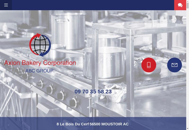 Capture d'écran du site de Axion Bakery Corporation