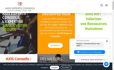 Site internet de Axis Experts Conseils