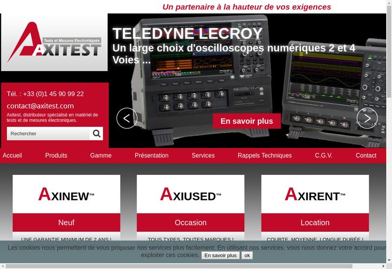 Capture d'écran du site de Axitest