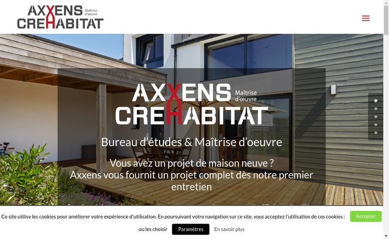 Capture d'écran du site de Axxens SARL