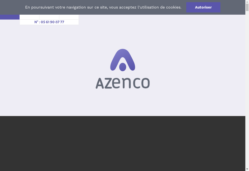 Capture d'écran du site de Azenco Groupe