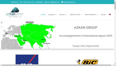 Capture d'écran du site de Azkan Group