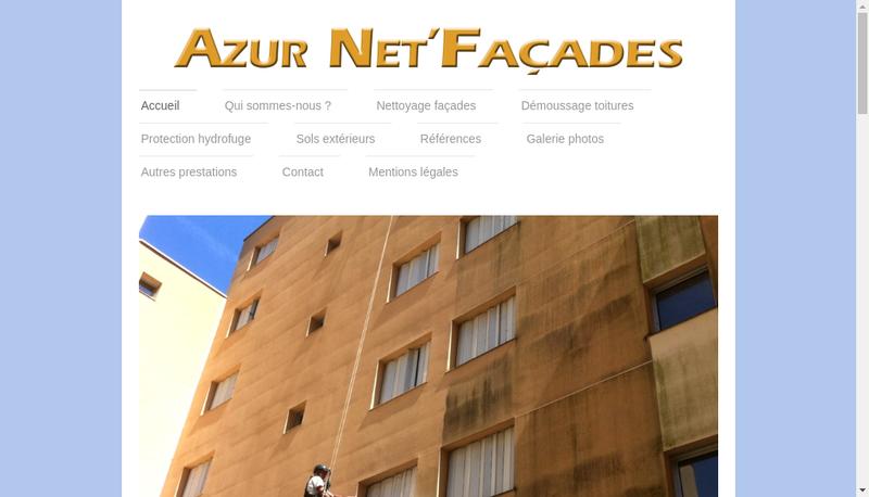 Capture d'écran du site de Azur Net Facades